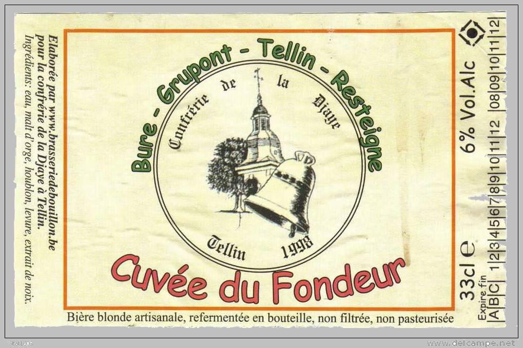 Cuvée du fondeur - Etiquette ( fond gris )